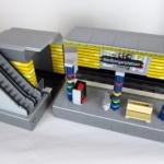 LEGO City tåg station modell