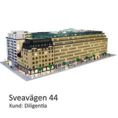 Arkitekturmodellen av LEGO - Arkitekturmodeller på uppdrag av Skandia Fastigheter