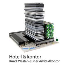 LEGO som fysiska modeller till arkitektkontor