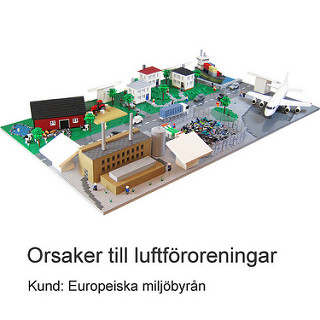 Luftfororeningar och Miljöförstöring visas i LEGO