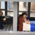 Skatte-skrapan interiör av LEGO modellen