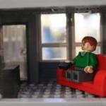 Interiör återspeglas i Skrapans modell
