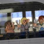 Studentskrapan av LEGO till lego-event