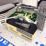 Skanskas LEGO-modell över Linnéuniversitetet
