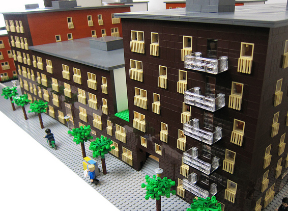 Exteriörmodell - arkitekturmodeller av LEGO