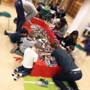 LEGO i fokus på Huskvarna Bibliotek med 100kg LEGO i blandade bitar