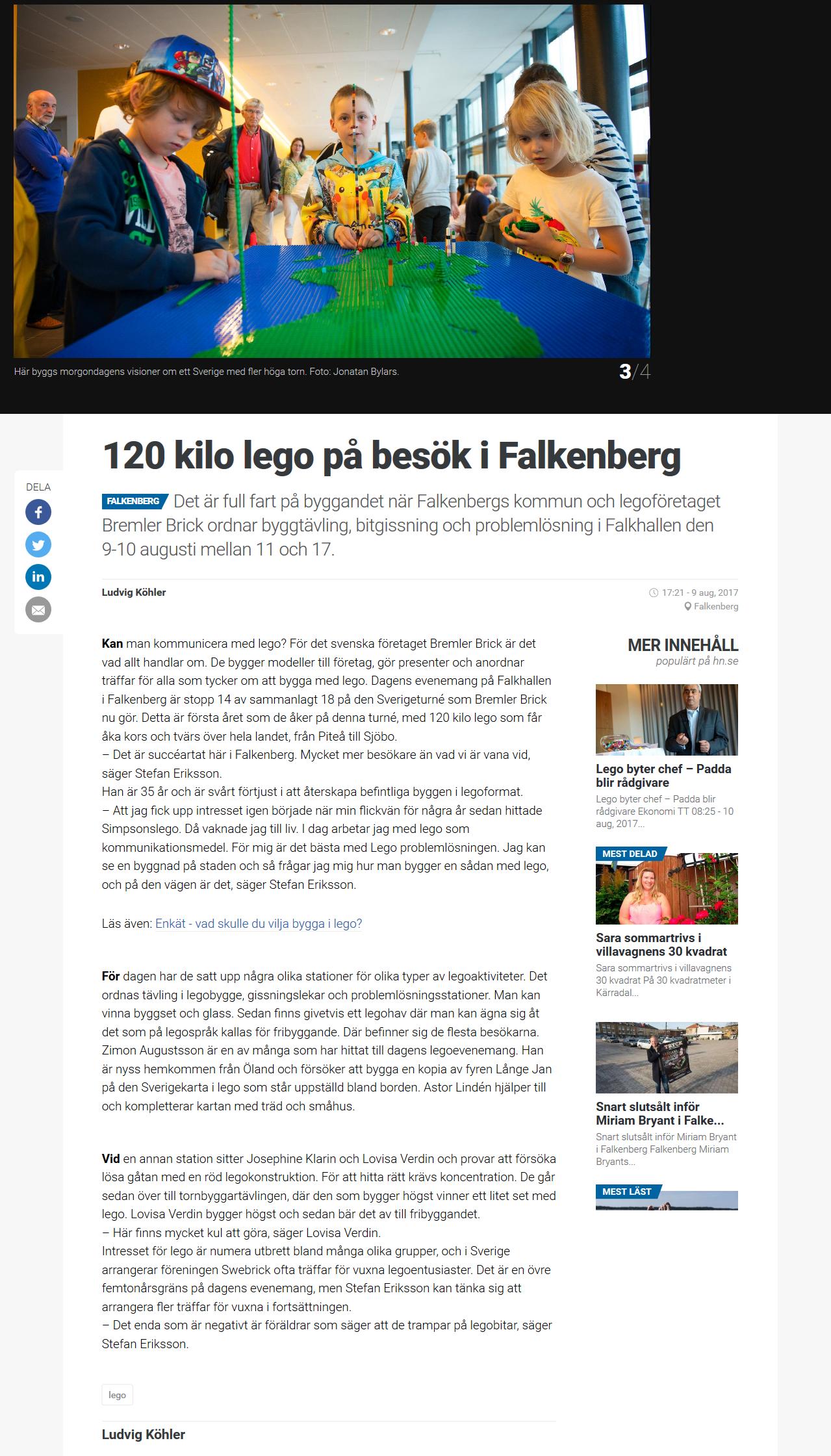 120 kilo lego på besök i Falkenberg