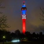 Kaknästornets Belysning efter terrordådet i Paris